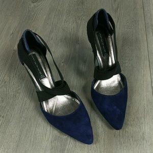 STEVEN Suede Snake Heels Pointy Shoes